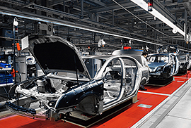 Industrial manufacturing of car bodies
