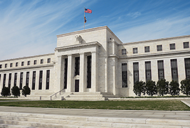 Federal Reserve front steps