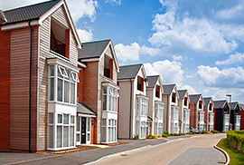 Row of houses on a suburban road